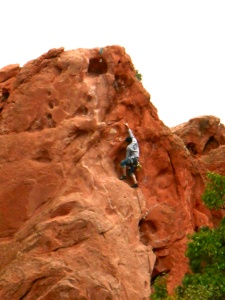 climber at Garden of the Gods